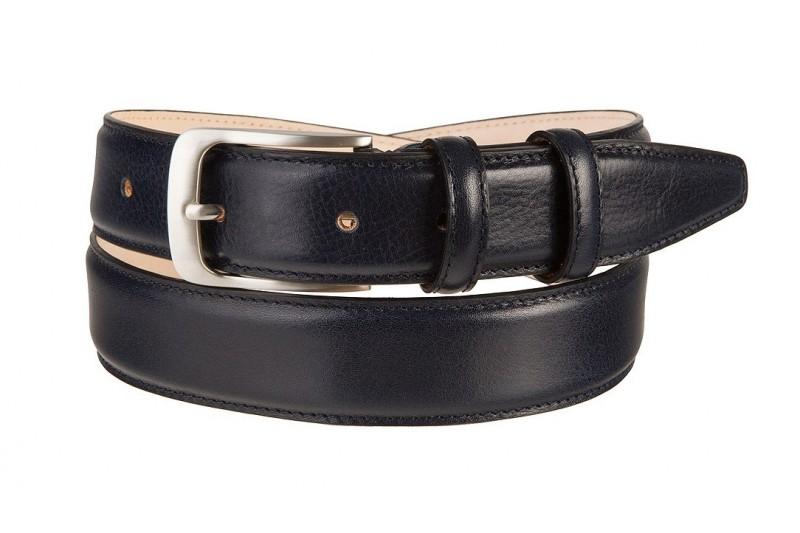 full grain leather belt navy