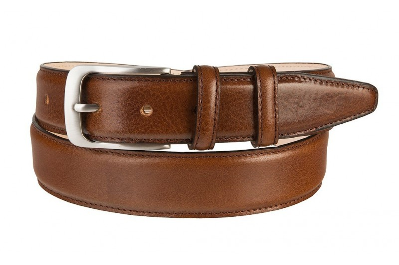 luxury leather belt cognac