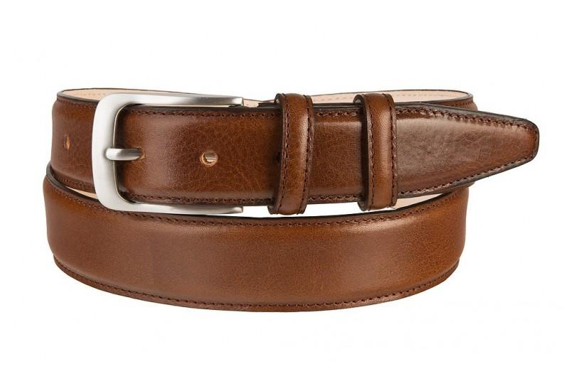 luxury leather belt cognac